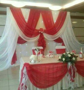 Оформление свадеб (ткани и цветы)