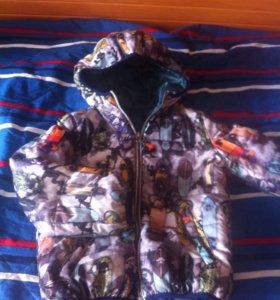 куртка демисезон и ветровки р. 128/134