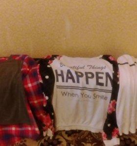 Блузки,свитер, юбка,водолазка