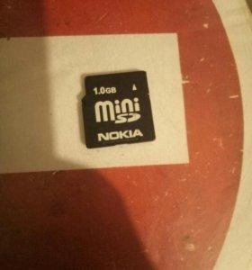 Карта памяти Mini sd 1gb