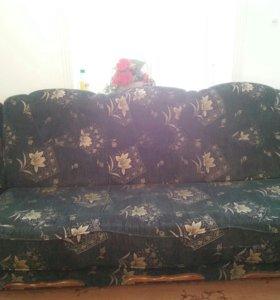 Диван и 2 кресла Б/У