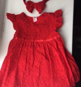 Детские платья на 1-2года