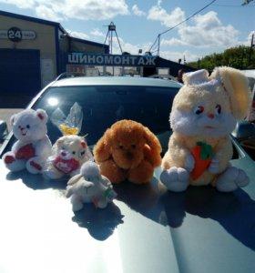 Игрушки плюшевый заяц  красивые мягкие много разн!