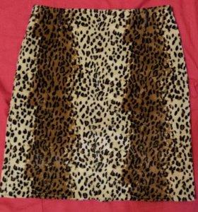 Юбка леопардовая