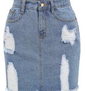 Джинсовая юбка в наличии
