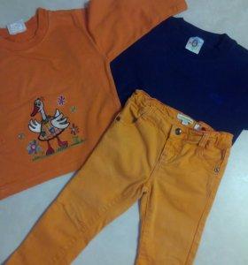 Одежда для девочки пакетом, рост 86-92