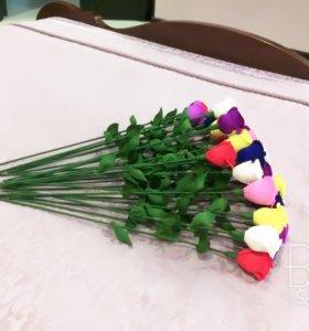 Розы из гофре