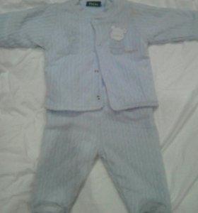 Тёплый костюм на малыша 3 месяца