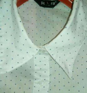 Белая рубашка с чёрными звёздочками