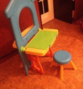 Комплект стол стул доска магнитная доска для рис.