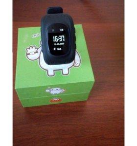 Детские часы Q50 с GPS отслеживанием (черные)