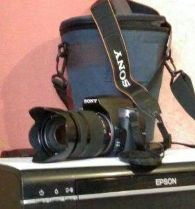 Фотоаппарат Sony DSLR-A330 с объективом