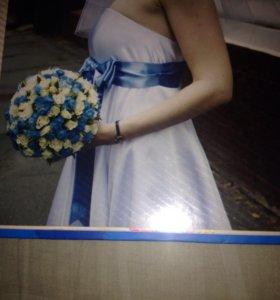 Выпускное или свадебное Платье,в подарок манто