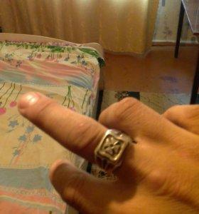 кольцо серебро.печатка