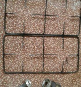 Решетки для газовой плиты вместе с 4комфорками