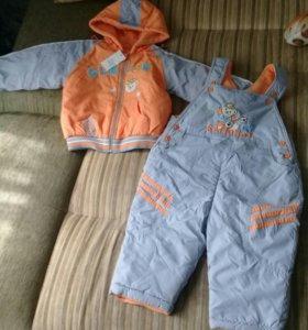 Детский комплект на флисе(куртка,полукомбинезон)