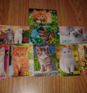 Мини календарики с котятами