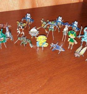Игрушки из киндера, картонные фигурки
