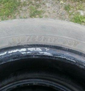 Продам шины 215/55r17
