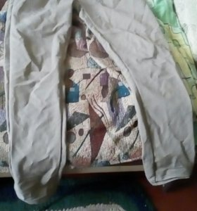 Юбка кожанная и штаны кремовые