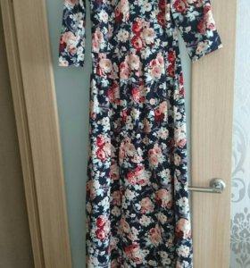 Продам шикарное платье в пол