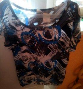 Новая футболка вискоза 50-52 р