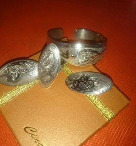 Комплект из серебра 925 пробы