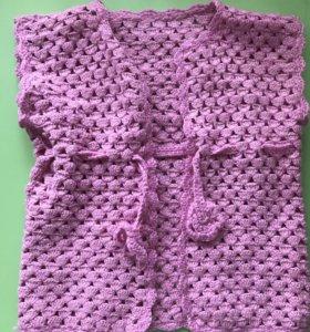 Вязанная жилетка для девочки