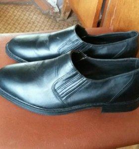 Туфли армейские кожаные новые 39, 5 размер.