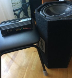 Сабвуфер pioneer 1000 w и усилитель Sony xplod 350