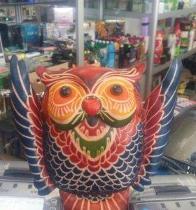 Совунья сова кожанная кошелек
