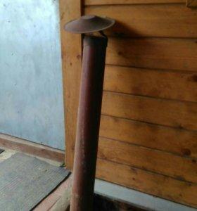 Труба металлическая высотой 1м диам.100мм с зонтом