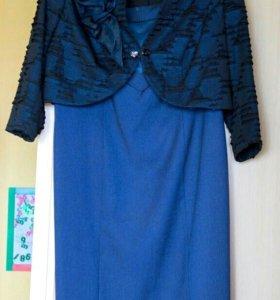 Нарядное платье с болеро 54 р -р.