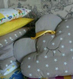 бортики, вигвамы, лоскутные одеяла, покрывала