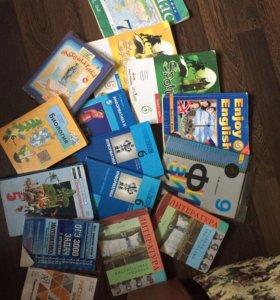 Учебники 5-9кл английский , русский, математ. И др
