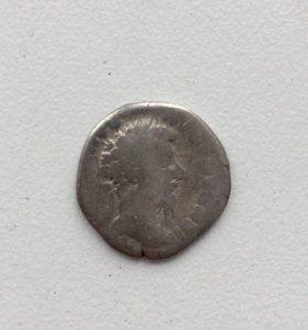 Серебряный римский денарий 2. Марк Аврелий.
