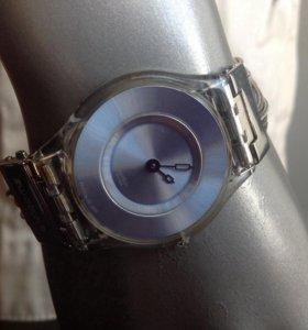 Супертонкие часы Swatch б/у