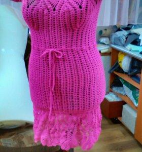 Платье вязанное ручной работы
