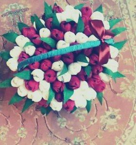 Цветы из гофры