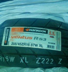Резина 205/45ZR16 новая комплект 4шт