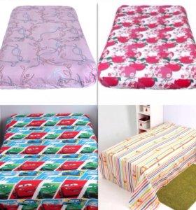 Простыни детские на резинке постельное