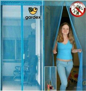 Москитная сетка (с магнитами) - штора на дверь
