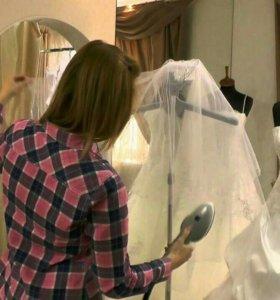 Отпаривание свадебного, вечернего платья