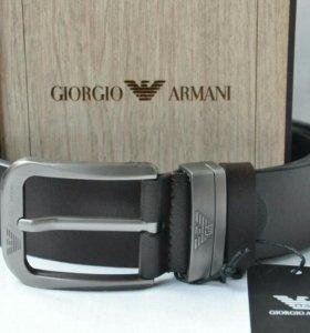 Коричневый ремень Giorgio Armani