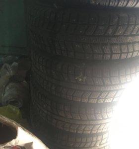 13 колеса зимние , шипованные