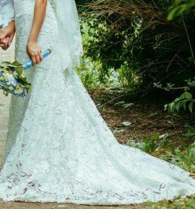 Продам шикарное свадебное платье,р-р 42-46