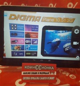 "Digma Plane 10.51 3G\10.1""\телефон\4 ядра"