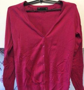 Кардиган розовый Zara р.46-48