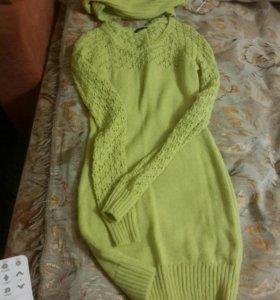 Платье (новое)+шарфик