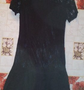 Черное новое групюровое платье 42-44р